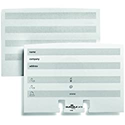 DURABLE VISIFIX & TELINDEX Address Cards Extension Set, White, 100-Pack (241902)