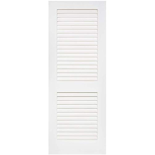 Louver-Louver Plantation Interior Door Slab Kimberly Bay White (80x24)