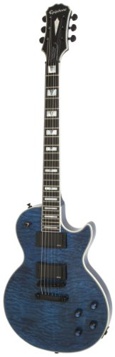 Epiphone Prophecy Les Paul Custom Plus EX Outfit with EMG 81/85 Pickups Includes Case, Midnight Sapphire Blue