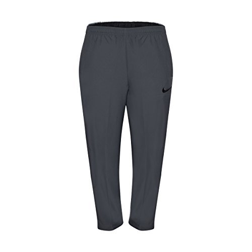 Nike Men's Team Woven Pants Black/Grey Training Sweatpants (X-Large) ()