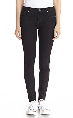 WallFlower Juniors Ultra Luxe Skinny Jegging in Black Size:13 (Skinny Flower)