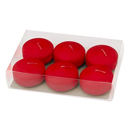 Red Floating Candles Holiday Decorations Unscented 2