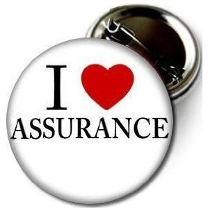 "I Love Assurance 1.5"" High Quality Pin-back Button From Bravo-pin"