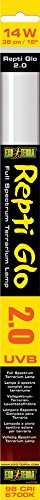 Exo Terra Repti Glo 2.0 Full Spectrum Terrarium Lamp, 14-Watt, 15-Inch by Exo Terra