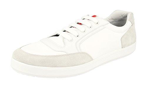 Prada Menns 4e2841 D7r F0082 Skinn Sneaker