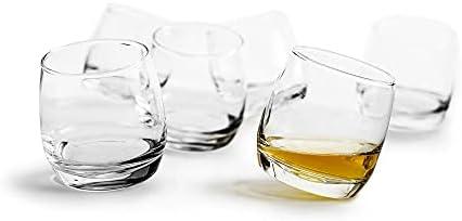 Juego de 6 vasos de whisky de cristal que ofrecen un toque fresco al tradicional vaso de whisky,El c