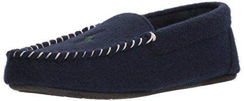 RALPH LAUREN Men's Polo Dezi II Venetian Slip-On Moccasin, Navy/Green, 12 M (Ralph Lauren Suede Leather)
