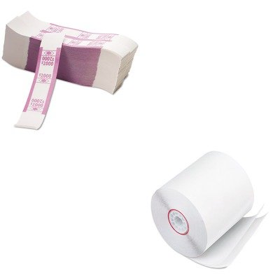 KITPMC07832PMC55032 - Value Kit - Pm Company Paper Rolls (PMC07832) and Pm Company Color-Coded Kraft Currency Straps (PMC55032)