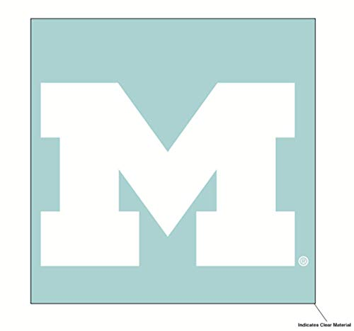 Wincraft NCAA University of Michigan Wolverines 6 x 6 inch White Decal