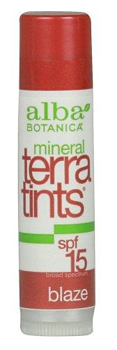 UPC 885334777428, Alba Terra Tints Natural Tinted Lip Balm, Blaze, SPF 15 0.15 Oz / 4.2 G Sticks (Pack of 4)
