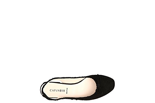 Derrière Ouvert 2330 Ballerina KEE502 LA Nude Cafè Noir Suede Bow Tq1w14B