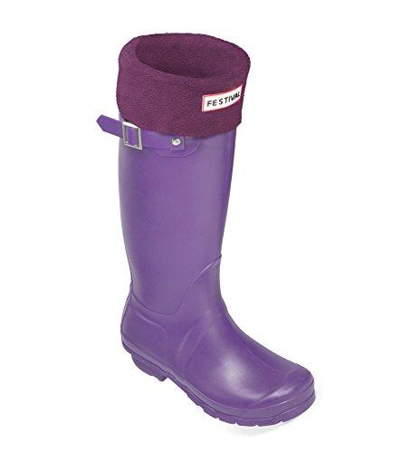 Boots Plum Wellies Purple Wellington Tall 9 Warm UK Original Sizes Winter Rain Ladies 3 n7YOqa0xw