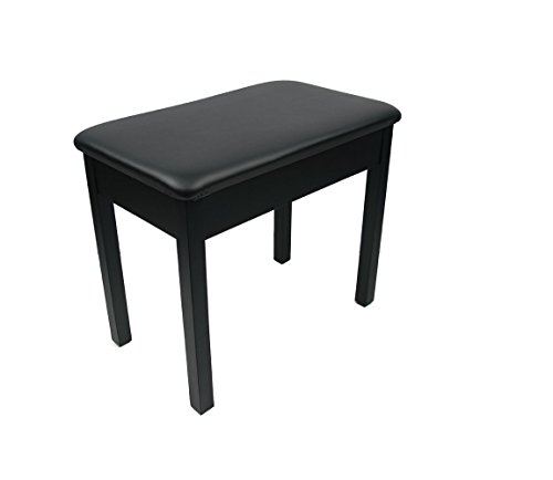 Piano Bench / Stool, Keyboard Bench - Sturdy and Durable / Black / Padded Wooden - Made in USA