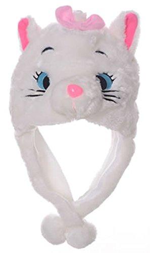 Animal Head Super Soft Plush Childrens Hat - White Cat (White Cat Costume For Kids)