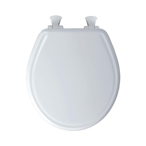 - Church 640E3 346 Residential Round Molded Wood Toilet Seat with Whisper Close, Linen