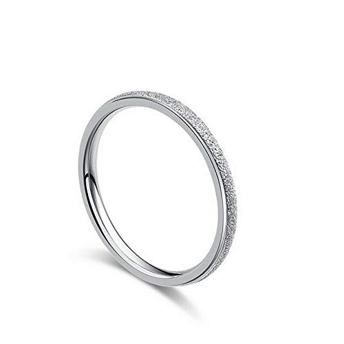 (Tomikko Ultra-fine Tail Ring Titanium Steel Women Wedding Party Engagement Band Size 4-9 | Model RNG - 24100 | 8)