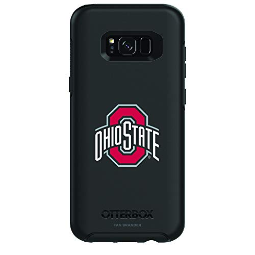 Fan Brander NCAA Black Phone case with Primary Design, Compatible with Samsung Galaxy S8 with OtterBox Symmetry Series (Ohio State -