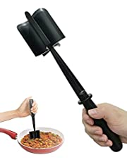 Meat Chopper, Exquisite Multifunctional Premium Heat Resistant ABS plastic Meat Chopper Tool, 5 Curve Blades Masher Non Stick Utensil, Ground Meat Masher for Hamburger Meat,Ground Beef Turkey and More