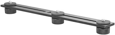 iBOLT 10 inch Tripod Camera Slider Bar with 3 Camera (_ inch) Screw attachments- Great for Adding Additional Microphones, LED Lights, Camera Flash, Monitors, etc.- DSLR Cameras, GoPros, Video Cameras