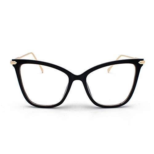 - ❤Lemoning❤ Polarized Sunglasses for Women Man Mirrored Lens Fashion Goggle Eyewear (Black)