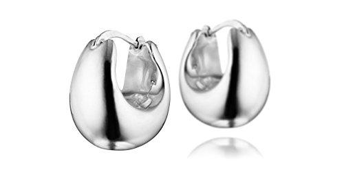 Clio Blue Boucles d'oreilles créoles Les intemporels en argent 925, 6.5g, Ø20mm