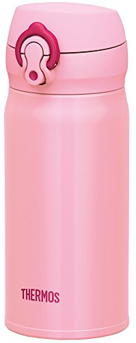 Thermos Water Bottle with Vacuum Insulation 0.35L JNL-352 [One-touch Open Type] (Coral pink)
