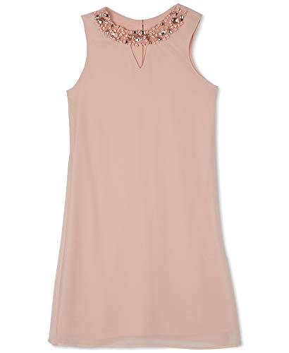 (BCX Big Girls Embellished-Neck Shift Dress (Rose Gold,)
