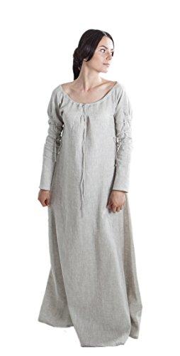 ArmStreet Medieval Women's Linen Sansa Underdress Chemise (0, White)