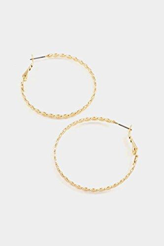 Karmas Canvas Braid Hoop Earring (Gold)