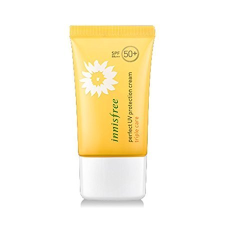 Innisfree:)NEW Perfect UV Protection Cream Triple Care 50ml SPF50+ PA+++ [WATER RESISTANT] (Waterproof Protection Sun Cream)