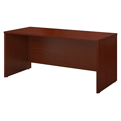 Bush Business Furniture Series C 60W x 24D Credenza Desk in Mahogany - Contemporary Mahogany Hutch