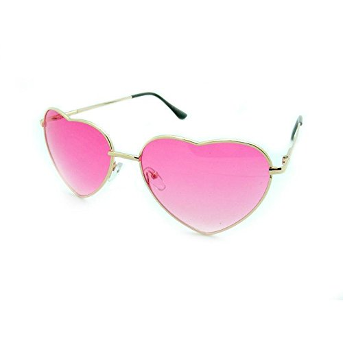 Red Stylish Women Heart Shape Designer Cat Eye Sunglasses - Lovely Sunglasses