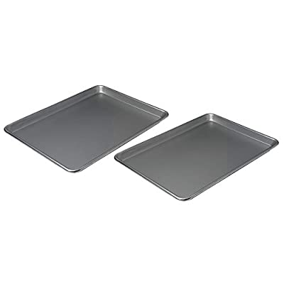 Chicago Metallic Small Jelly Roll Pans (Set of 2), Chrome