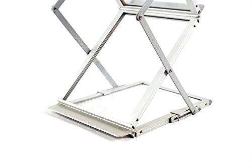 Sign Talk Zigzag Pocket Magazine Brochure Literature Catalog Holder Rack Stand Trade show Display w/Aluminium Case(6 Pockets)