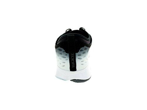 Nike Womens Zooma Fit Agility Låg Topp Snörning Igång Sneaker Svart / Mörkgrå / Vit / Svart