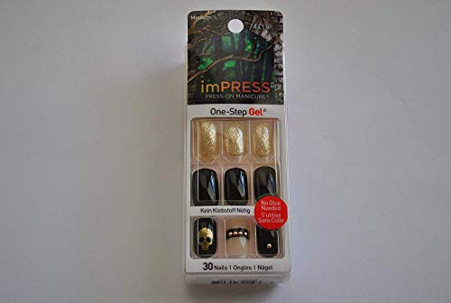 Impress Press-on Manicure Halloween Edition Medium Length, Square Shape Nails - Rouge -