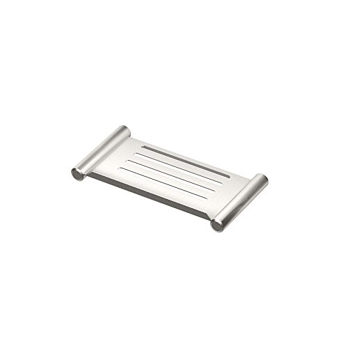 Gatco 1468 Elegant Shower Shelf, Satin Nickel, (Gatco Satin Shower Caddy)