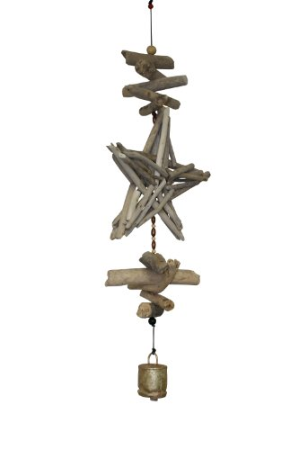Cohasset Gifts | | | # 603 Wind Driftwood Star Cohasset Bell |, Natural Wood Finish | Review
