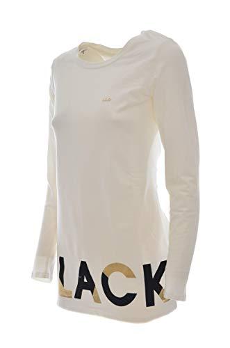 Con Shirt Sport Bianco Spalle Imbottite Donna T Liu Jo w7BFORn