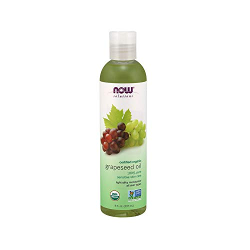 Now Solutions Organic Grapeseed Oil, 8-Ounce