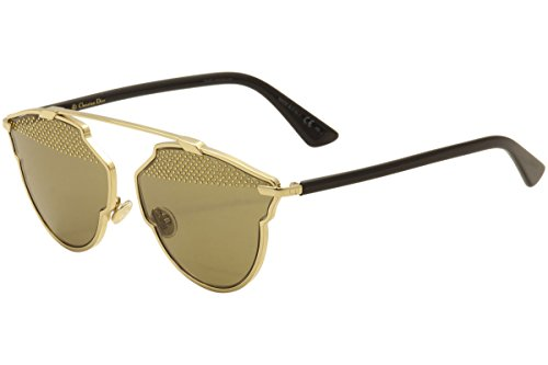 Dior Women CD SOREALSTUD 59 Gold/Brown Sunglasses - Dior Sunglasses So Real Christian