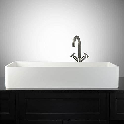"Signature Hardware 398741 Capella 32"" Resin Vessel Bathroom Sink"