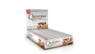 Quest Nutrition Protein Bar Chocolate Chip Cookie Dough Flavor, 2.12 Oz, 12 Bars