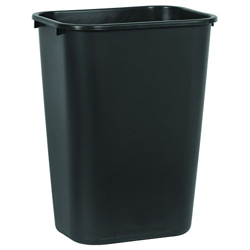 Rubbermaid Commercial Deskside Trash Can, 10 Gallon, Black (FG295700BLA) (Pack of - Molded Wastebaskets Black Plastic Soft