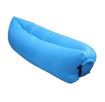 Al aire libre rápida hinchable con playa de cama Camping sofá Banana - Saco de dormir, color azul: Amazon.es: Deportes y aire libre