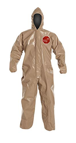 - DuPont C3127TTN4X000600 Tychem CPF 3 Coveralls with Elastic Wrists and Ankles, 4XL (Pack of 6)