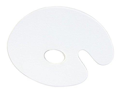 Jack Richeson 696065 Oval Plexi Palette, 8.5'' x 11'', Clear