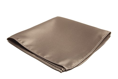 Jacob Alexander Men's Pocket Square Solid Color Handkerchief - Tan -