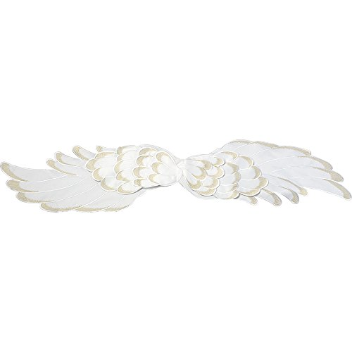 (Precious Moments Angel Wings Polyester 65-inch by 14-inch Table Runner, White 171402)