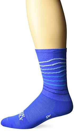 DEFEET RSRLBLUE401 Ridgeline Socks, X-Large, Blue/Neptune